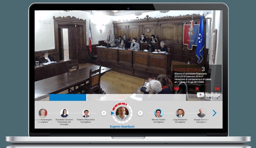 La piattaforma Civicam è integrata con Facebook, Vimeo, Youtube e molti altri social network