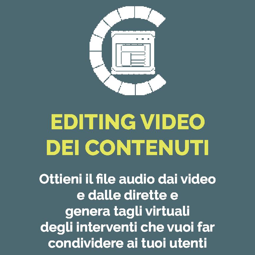 editing video dei contenuti icona