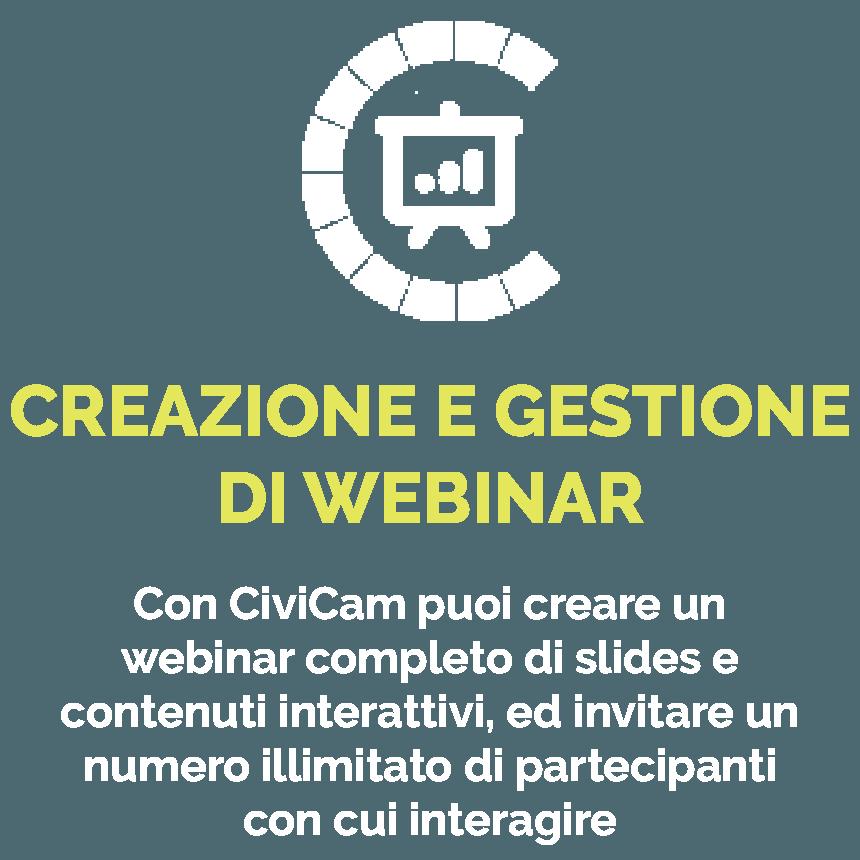 Creazione e gestione webinar